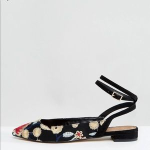 ASOS Embroidered Ballet Flats
